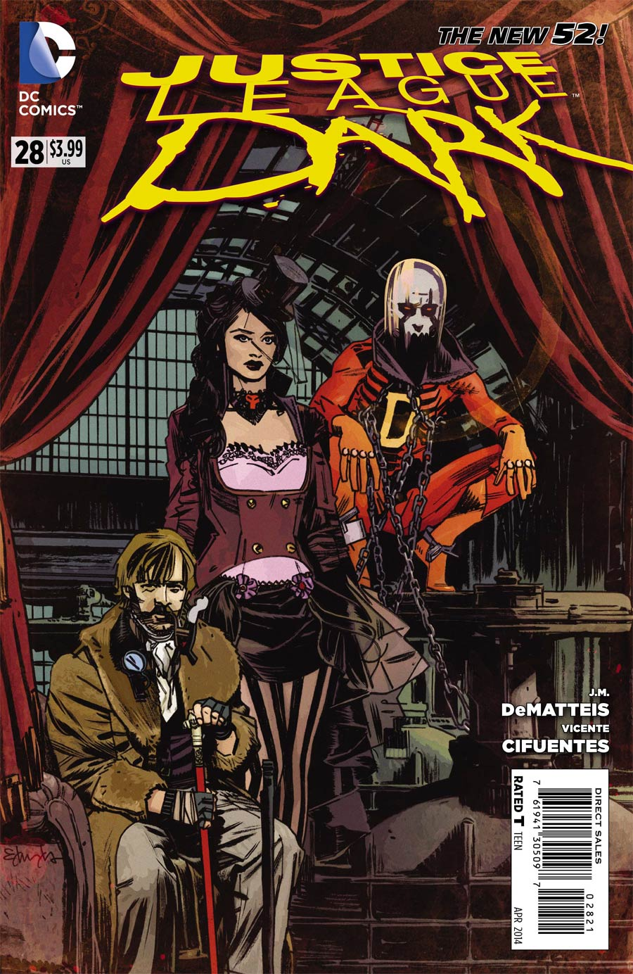 Justice League Dark #28 Cover B Incentive Tommy Lee Edwards Steampunk Variant Cover (Forever Evil Tie-In)