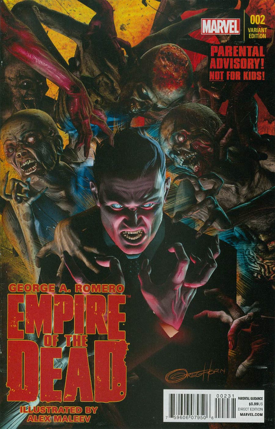 George Romeros Empire Of The Dead Act One #2 Cover B Incentive Greg Horn Variant Cover