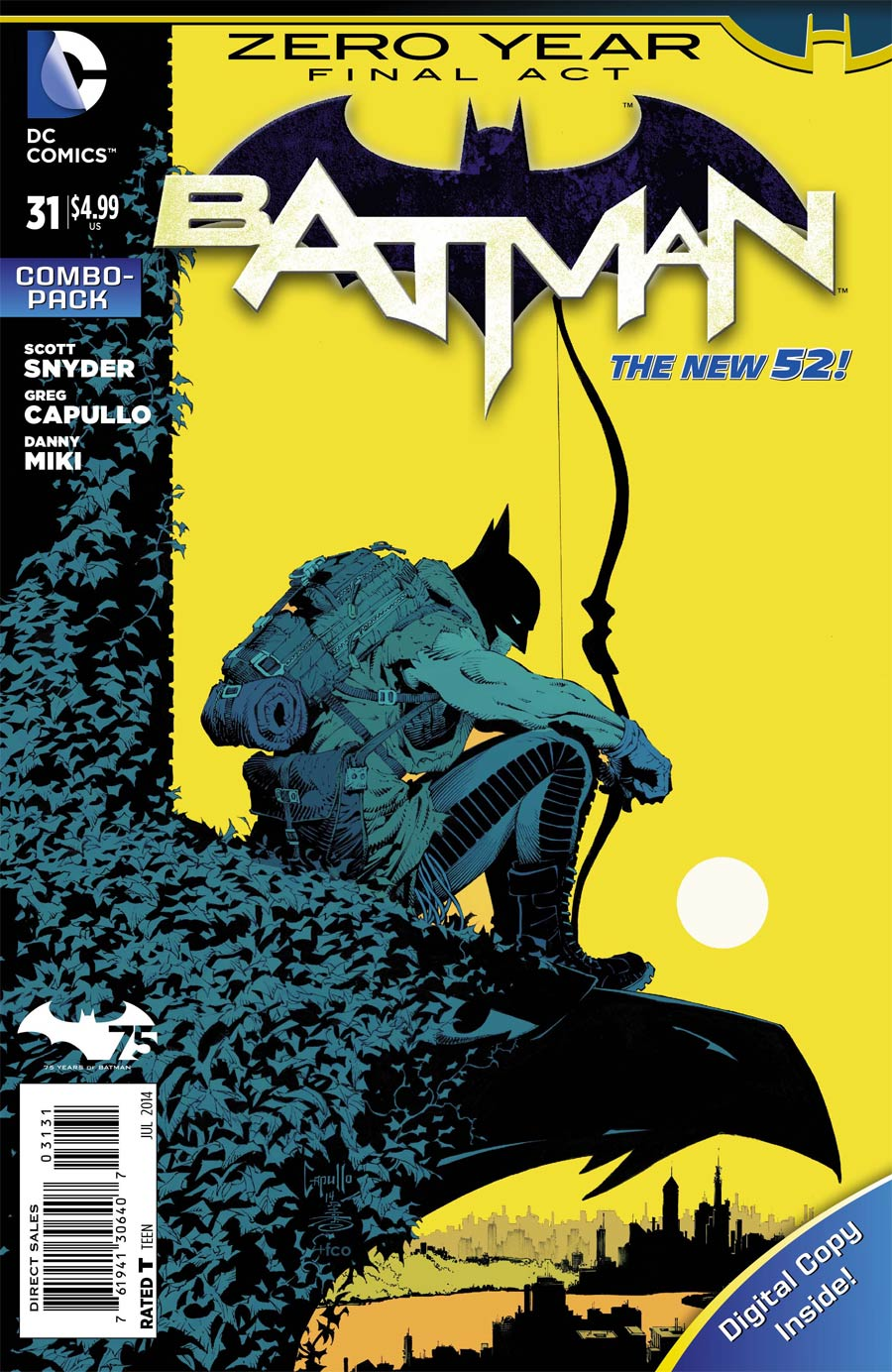 Batman Vol 2 #31 Cover B Combo Pack With Polybag (Zero Year Tie-In)
