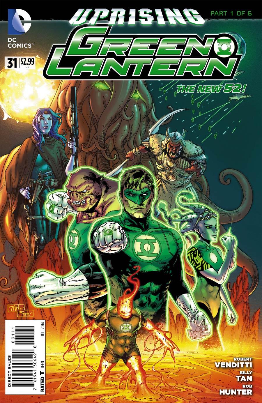 Green Lantern Vol 5 #31 Cover A Regular Billy Tan Cover (Uprising Part 1)