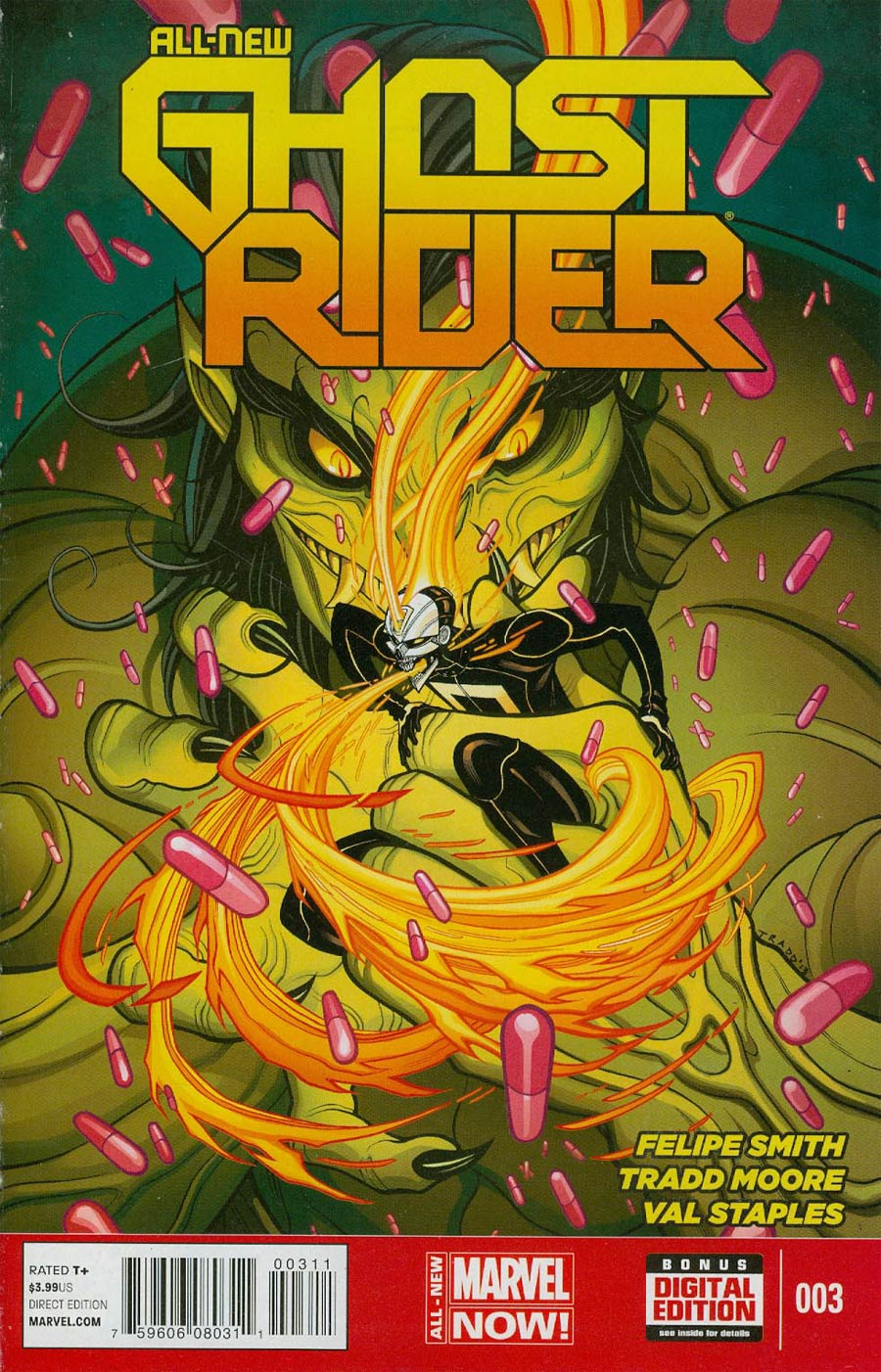 All-New Ghost Rider #3 Cover A 1st Ptg Regular Tradd Moore Cover