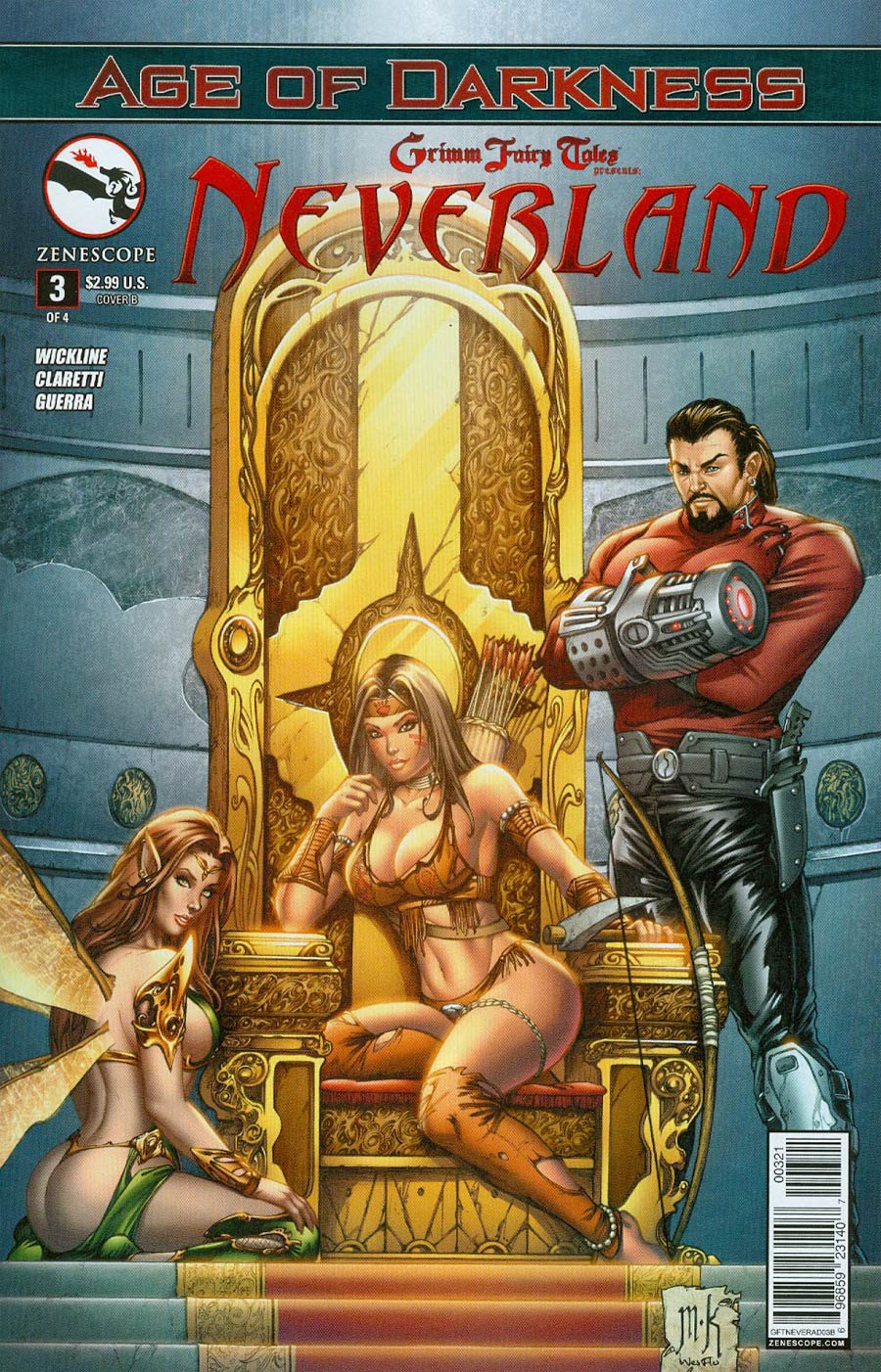 Grimm Fairy Tales Presents Neverland Age Of Darkness #3 Cover B Mike Krome