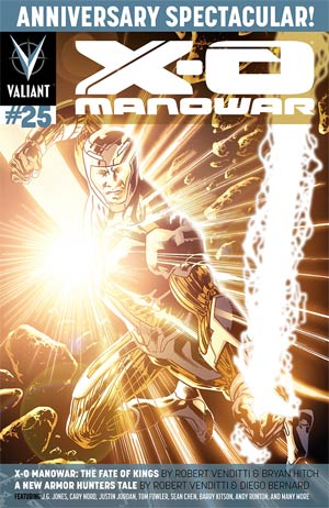X-O Manowar Vol 3 #25 Cover B Regular Bryan Hitch Cover (Armor Hunters Part 0)