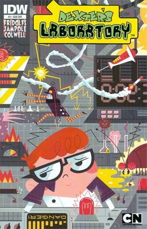 Dexters Laboratory Vol 2 #2 Cover B Variant Andrew Kolb Subscription Cover