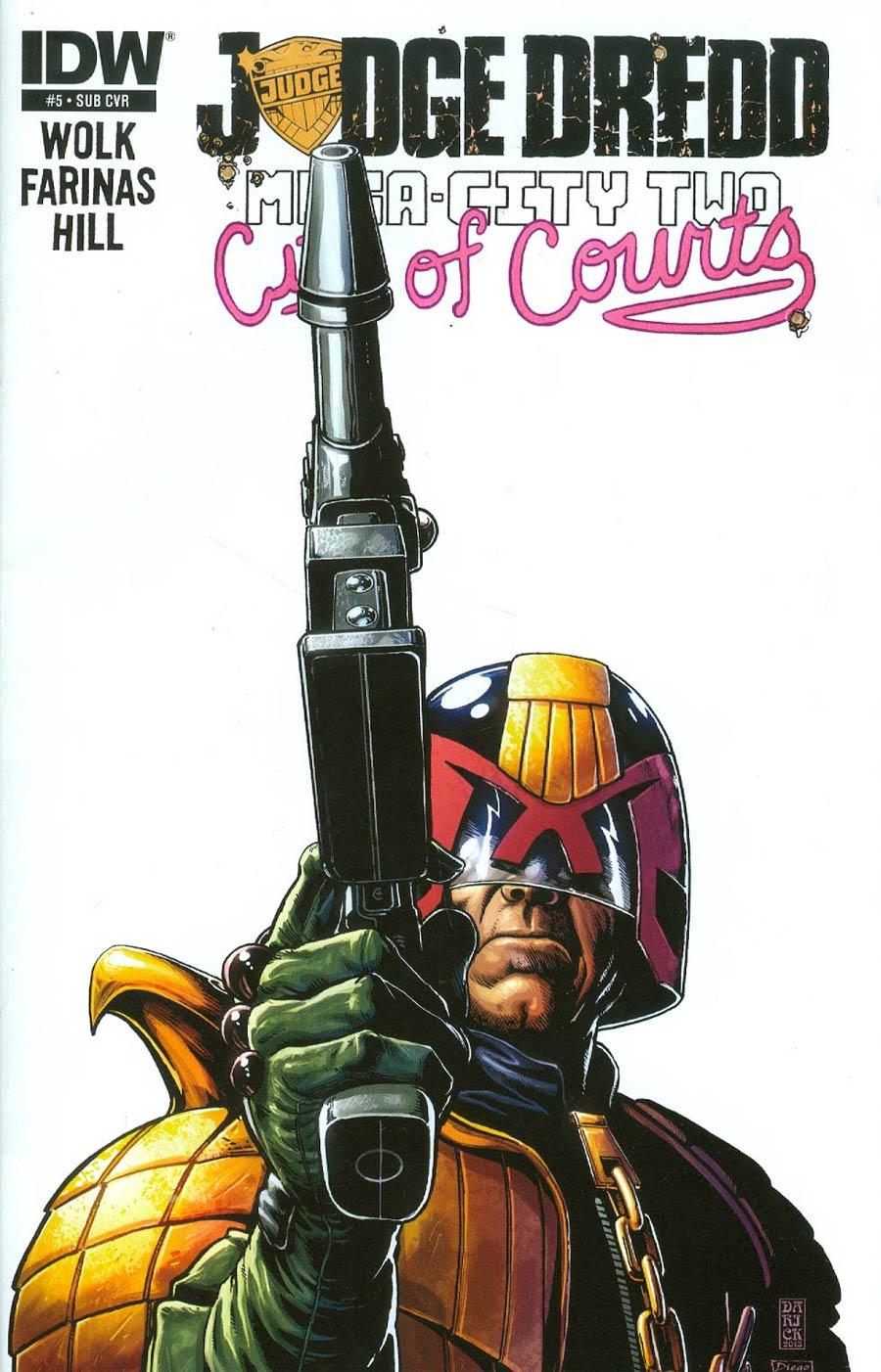 Judge Dredd Mega-City Two #5 Cover B Variant Darick Robertson Subscription Cover