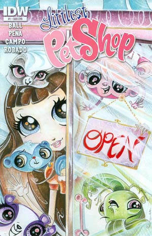 Littlest Pet Shop #1 Cover B Variant Sara Richard Subscription Cover