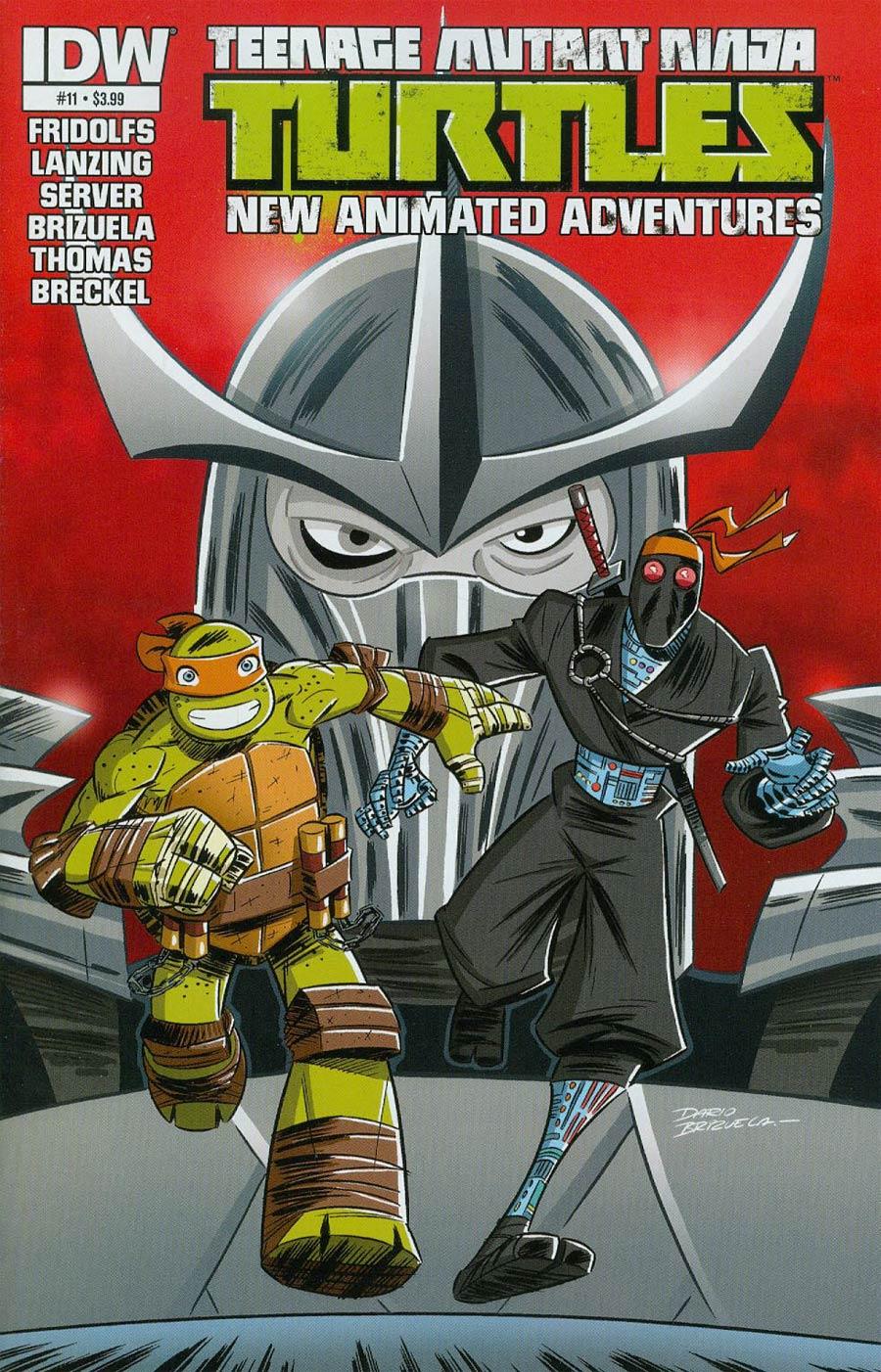 Teenage Mutant Ninja Turtles New Animated Adventures #11 Cover A Regular Dario Brizuela Cover