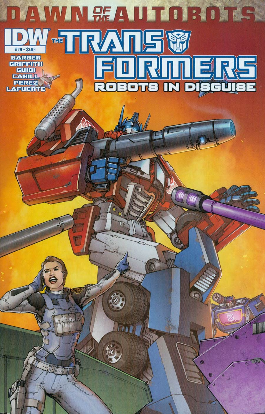 Transformers Robots In Disguise #29 Cover A Regular Andrew Griffith Cover (Dawn Of The Autobots Tie-In)