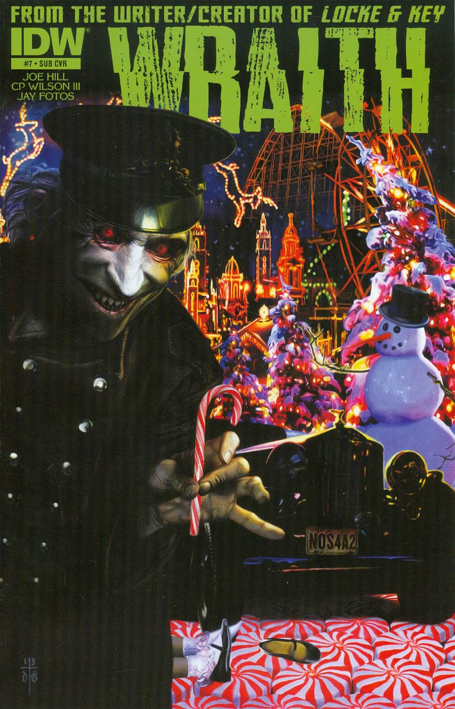 Wraith Welcome To Christmasland #7 Cover B Variant David Stoupakis Subscription Cover
