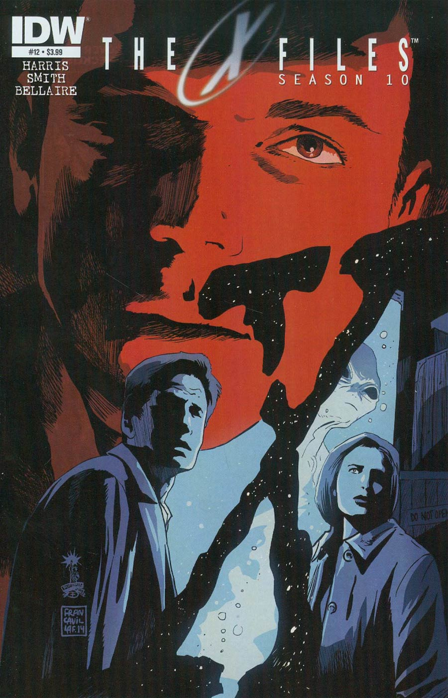 X-Files Season 10 #12 Cover A Regular Francesco Francavilla Cover