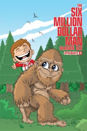 Six Million Dollar Man Season 6 #3 Cover B Variant Ken Haeser Cute Cover