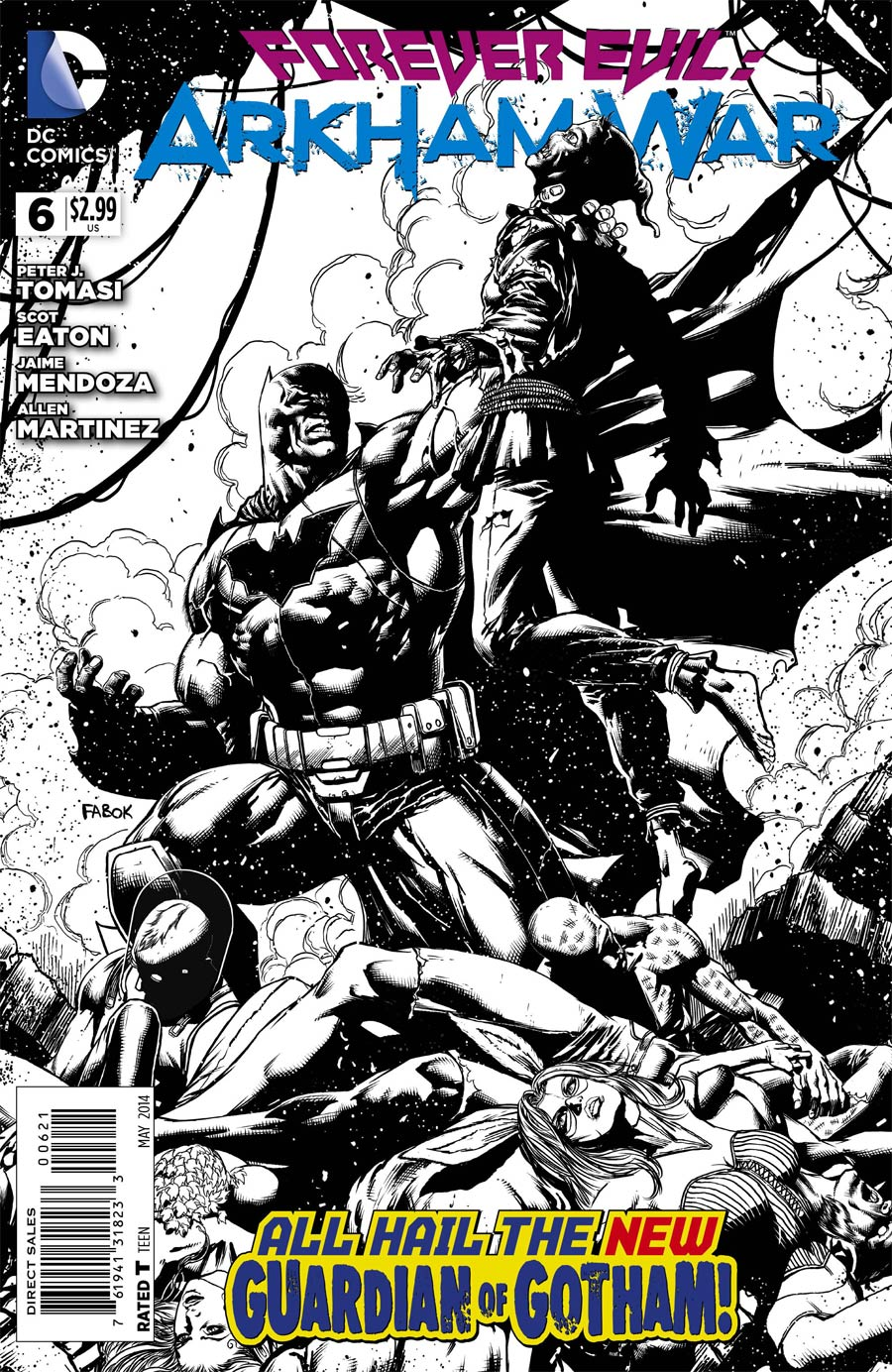 Forever Evil Arkham War #6 Cover B Incentive Jason Fabok Sketch Cover