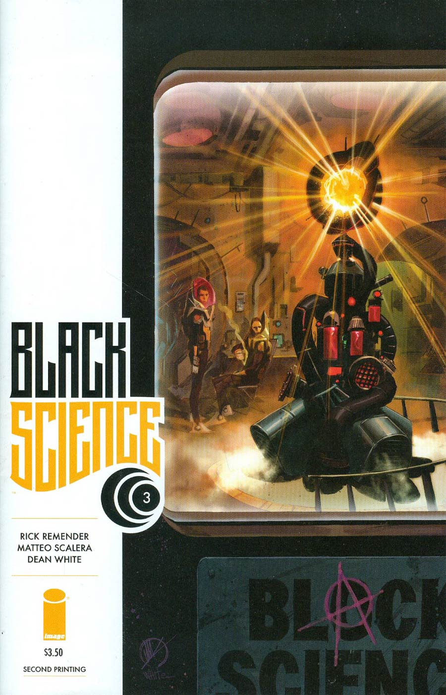Black Science #3 Cover B 2nd Ptg Variant Mattero Scalera Cover