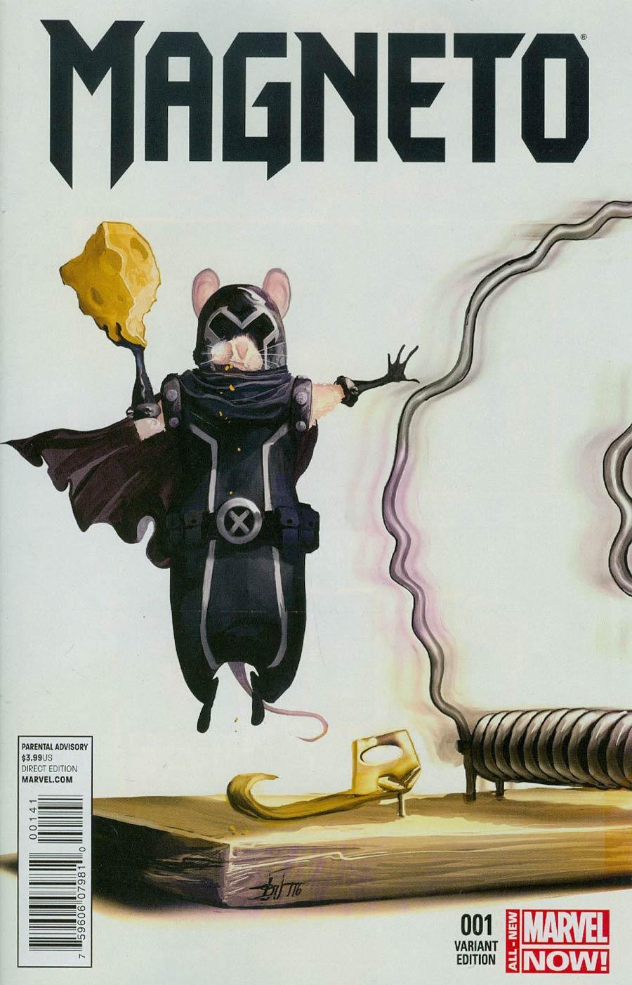 Magneto Vol 3 #1 Cover B Variant Mike Del Mundo Animal Cover