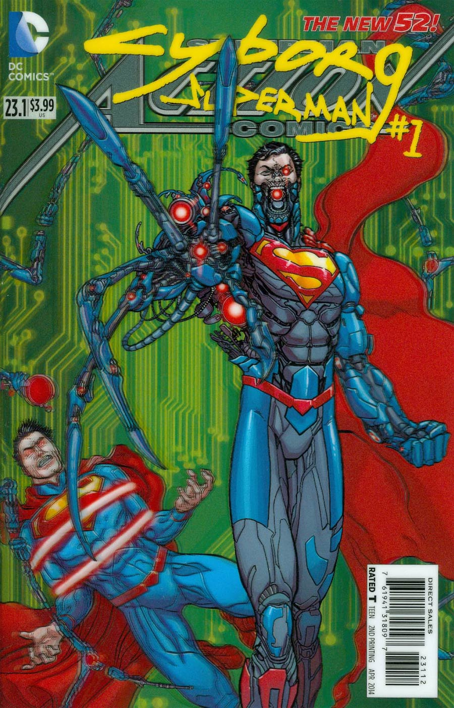 Action Comics Vol 2 #23.1 Cyborg Superman Cover C 2nd Ptg 3D Motion Cover
