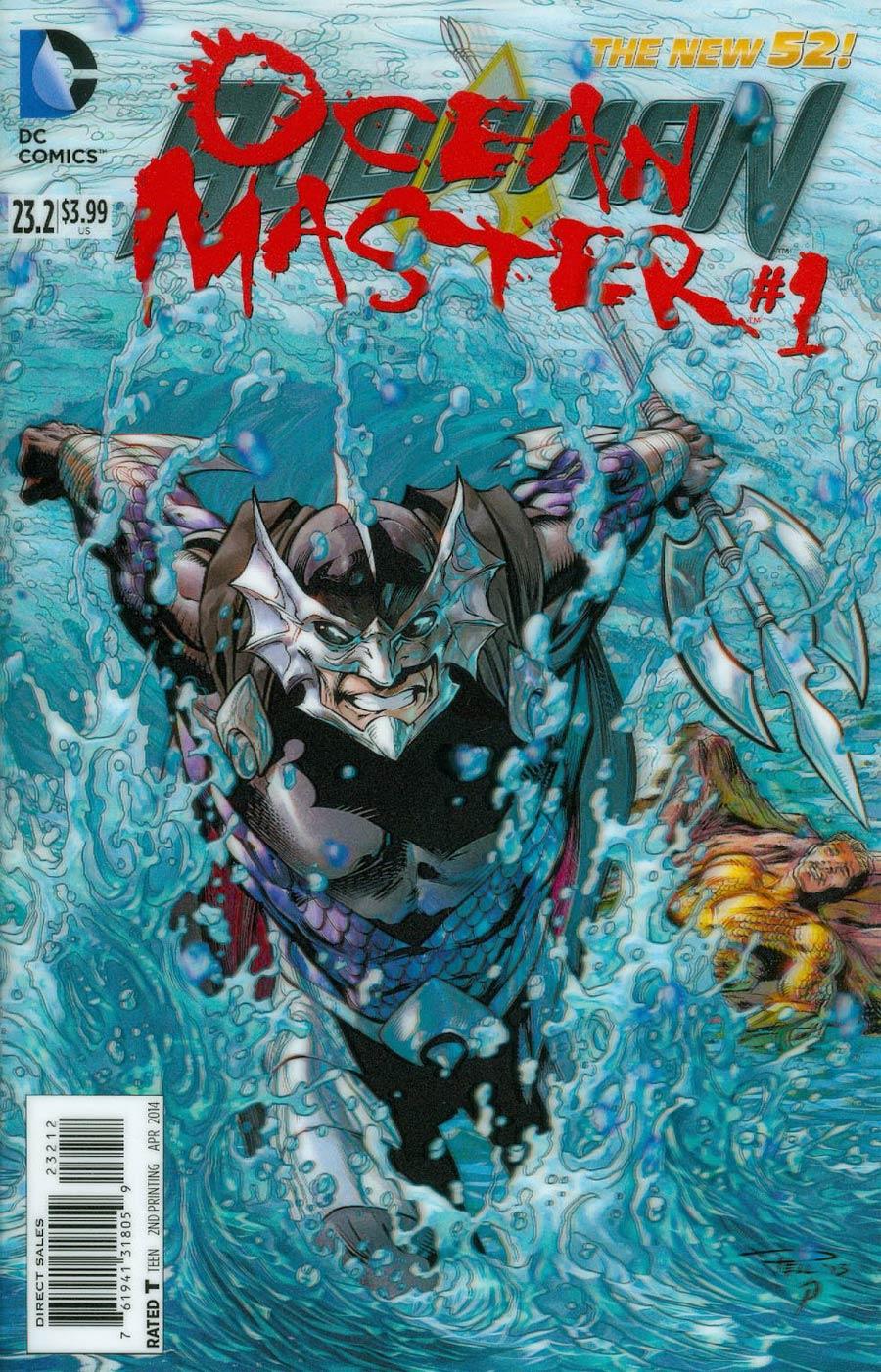 Aquaman Vol 5 #23.2 Ocean Master Cover C 2nd Ptg 3D Motion Cover