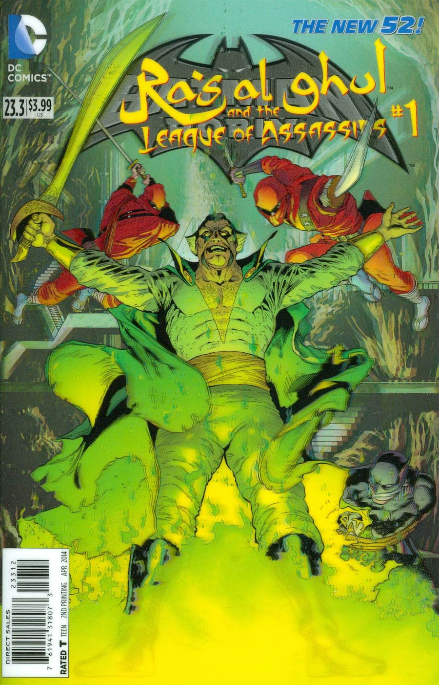 Batman And Robin Vol 2 #23.3 Ras Al Ghul And The League Of Assassins Cover C 2nd Ptg 3D Motion Cover