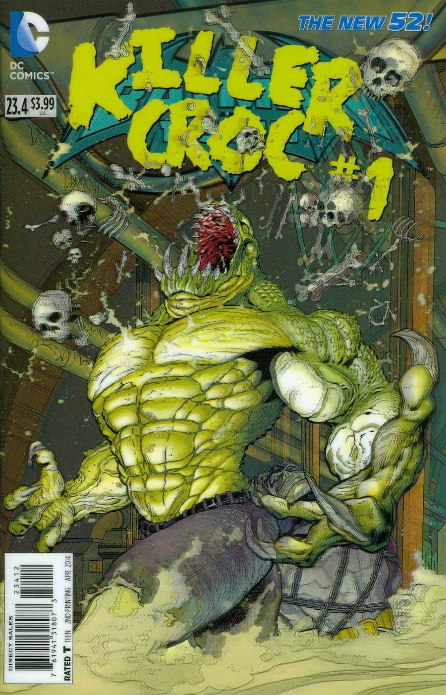 Batman And Robin Vol 2 #23.4 Killer Croc Cover C 2nd Ptg 3D Motion Cover