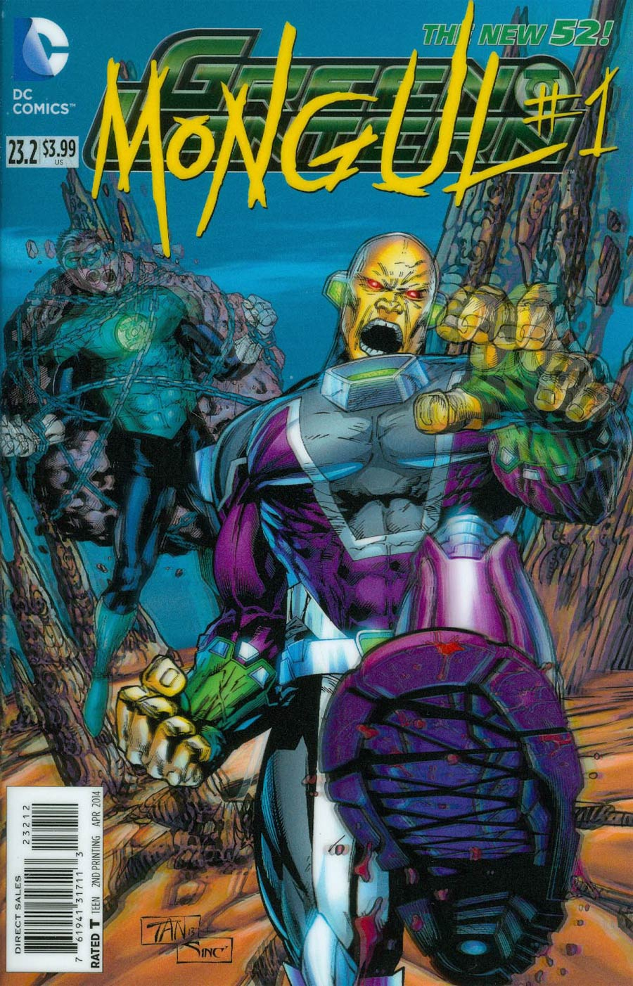 Green Lantern Vol 5 #23.2 Mongul Cover C 2nd Ptg 3D Motion Cover