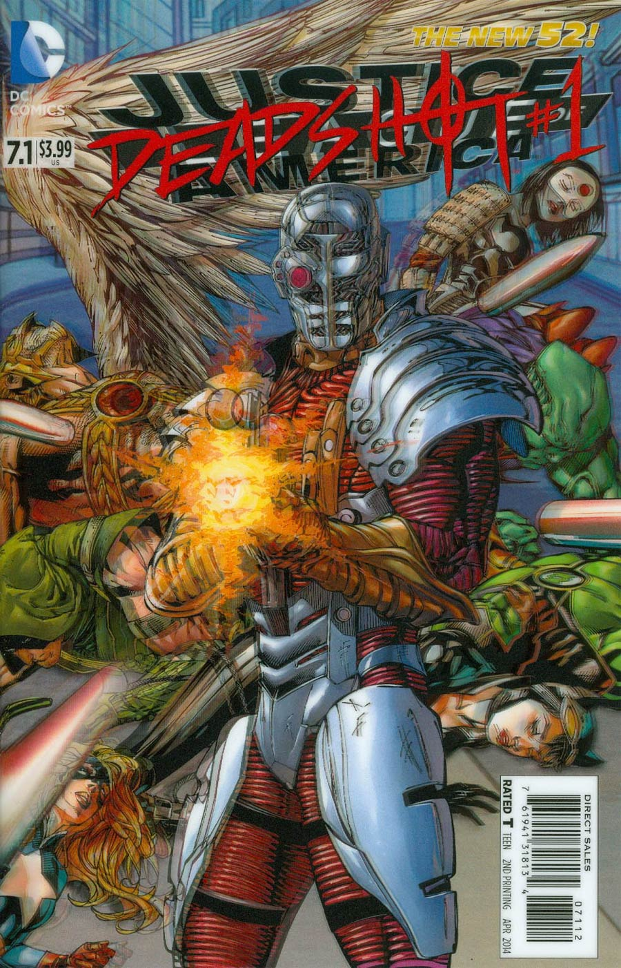 Justice League Of America Vol 3 #7.1 Deadshot Cover C 2nd Ptg 3D Motion Cover
