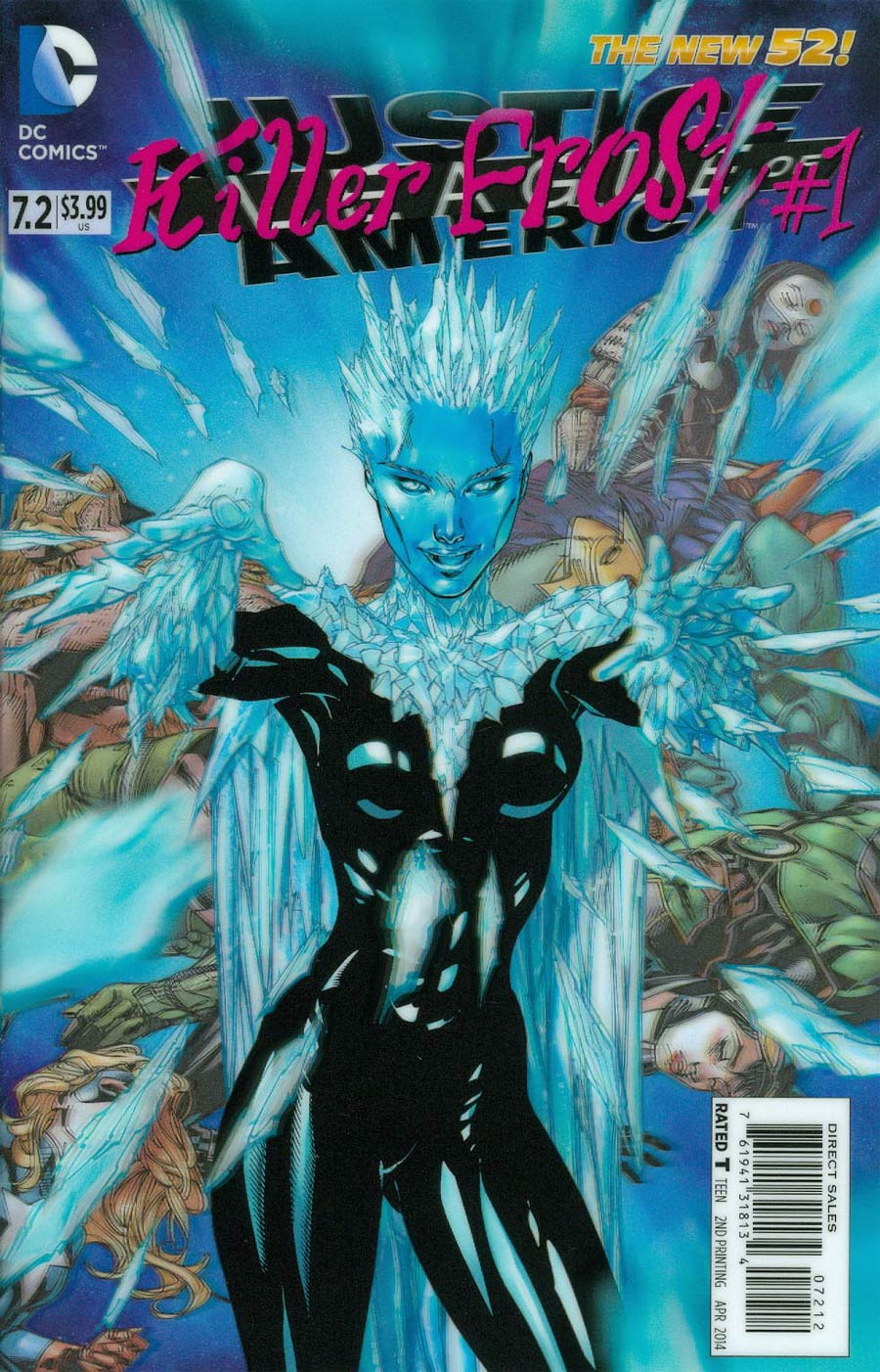 Justice League Of America Vol 3 #7.2 Killer Frost Cover C 2nd Ptg 3D Motion Cover