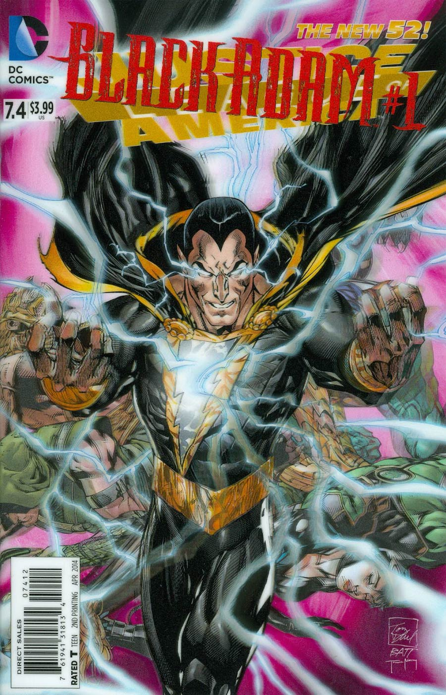 Justice League Of America Vol 3 #7.4 Black Adam Cover C 2nd Ptg 3D Motion Cover