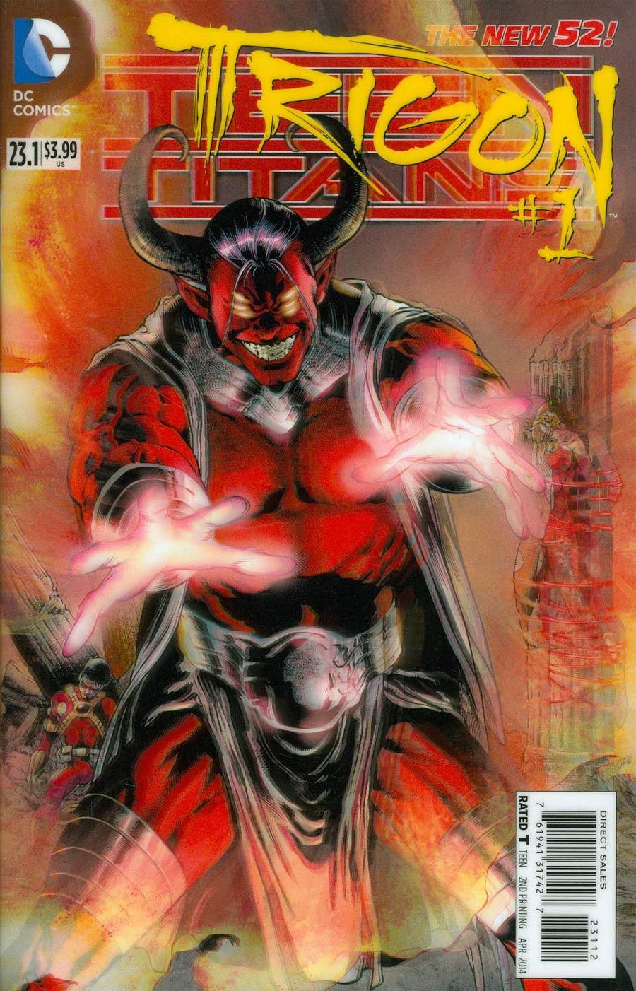 Teen Titans Vol 4 #23.1 Trigon Cover C 2nd Ptg 3D Motion Cover