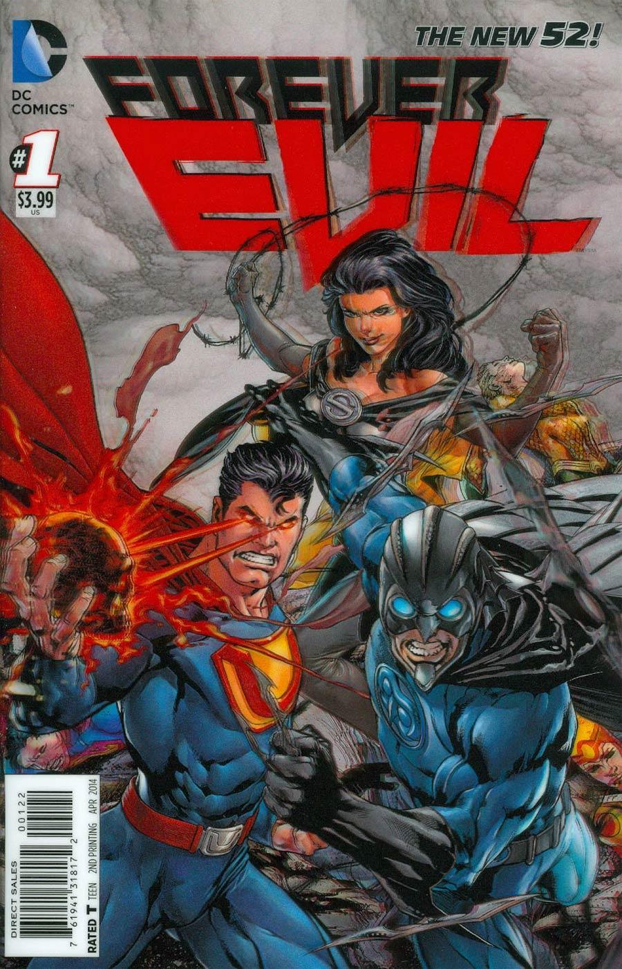 Forever Evil #1 Cover L Incentive 2nd Ptg 3D Motion Variant Cover