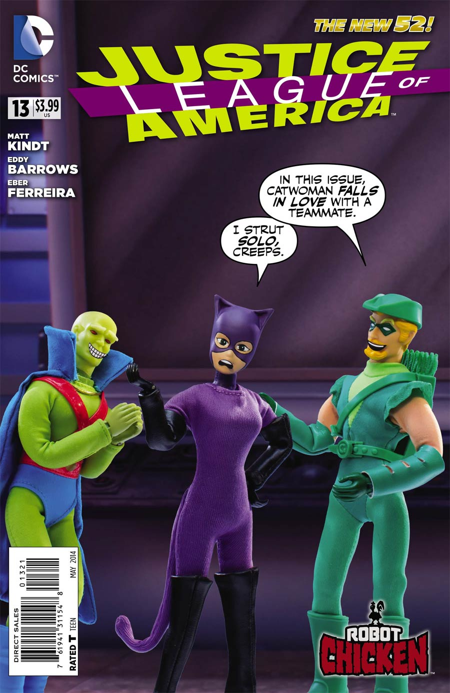 Justice League Of America Vol 3 #13 Cover D Incentive Robot Chicken Variant Cover (Forever Evil Tie-In)
