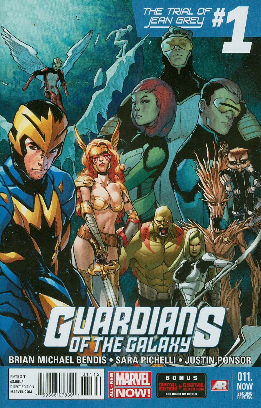 Guardians Of The Galaxy Vol 3 #11.NOW Cover G 2nd Ptg Sara Pichelli Variant Cover (Trial Of Jean Grey Part 2)