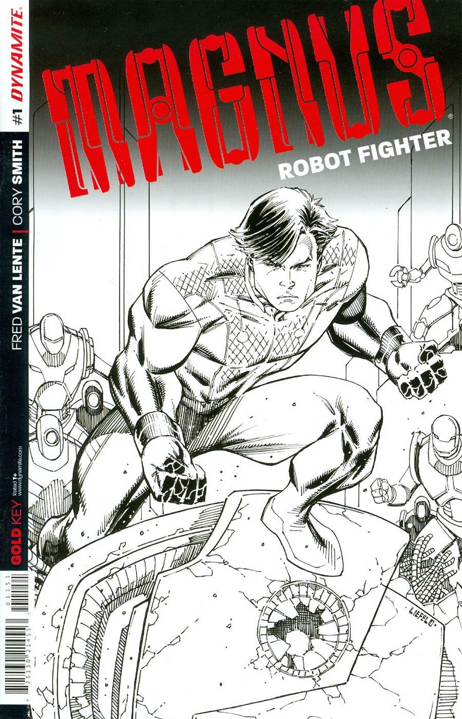Magnus Robot Fighter Vol 4 #1 Cover G Incentive Rob Liefeld Black & White Retailer Premium Variant Cover