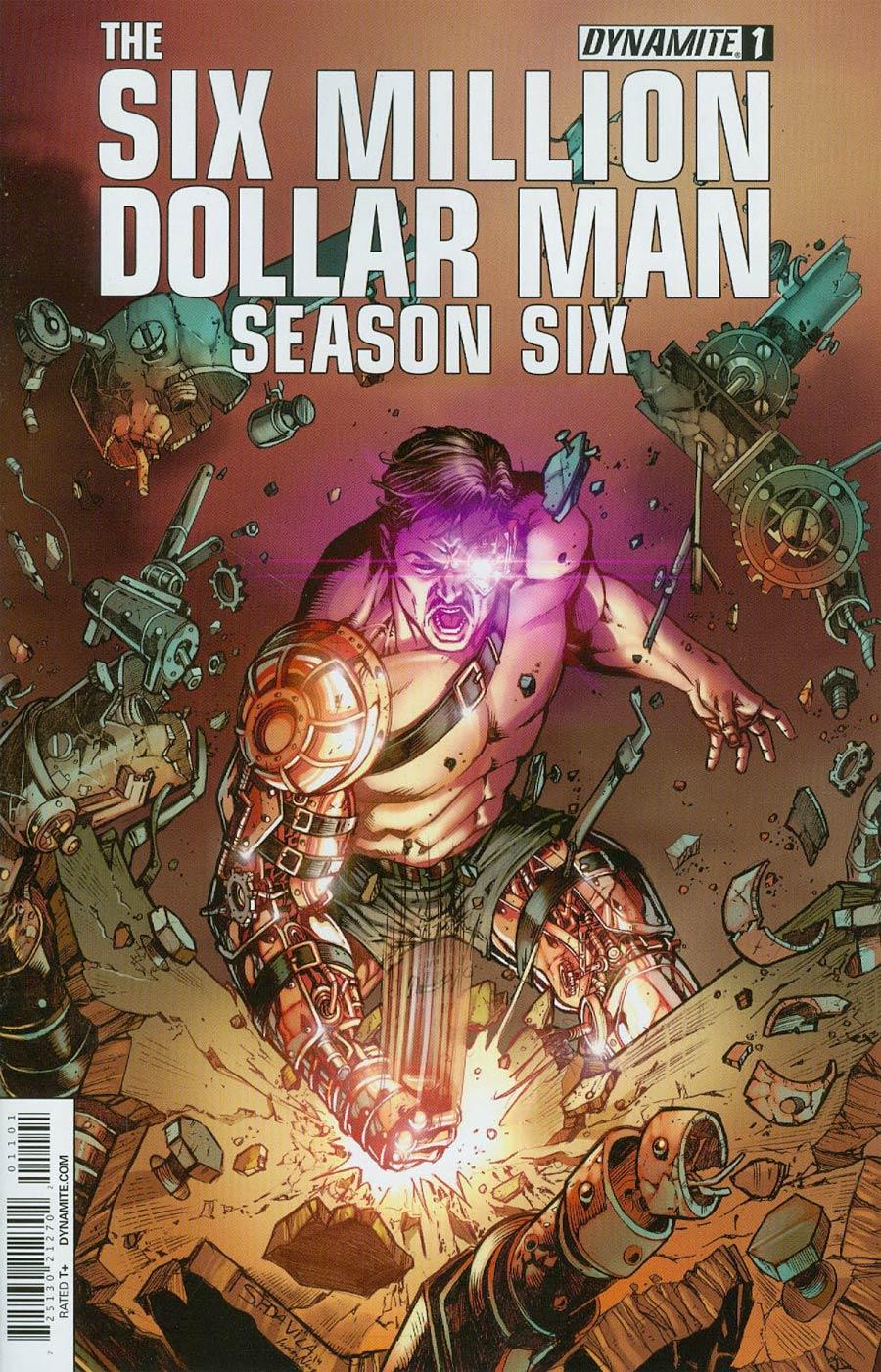 Six Million Dollar Man Season 6 #1 Cover E Variant Sergio Davila Steampunk Color Cover