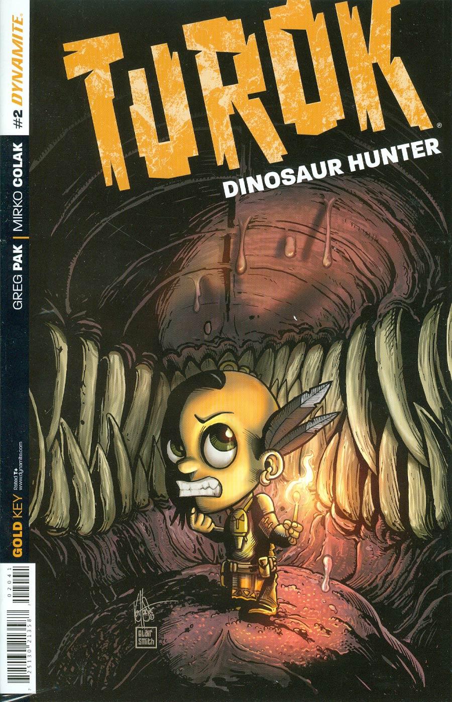 Turok Dinosaur Hunter Vol 2 #2 Cover E Incentive Ken Haeser Lil Turok Variant Cover