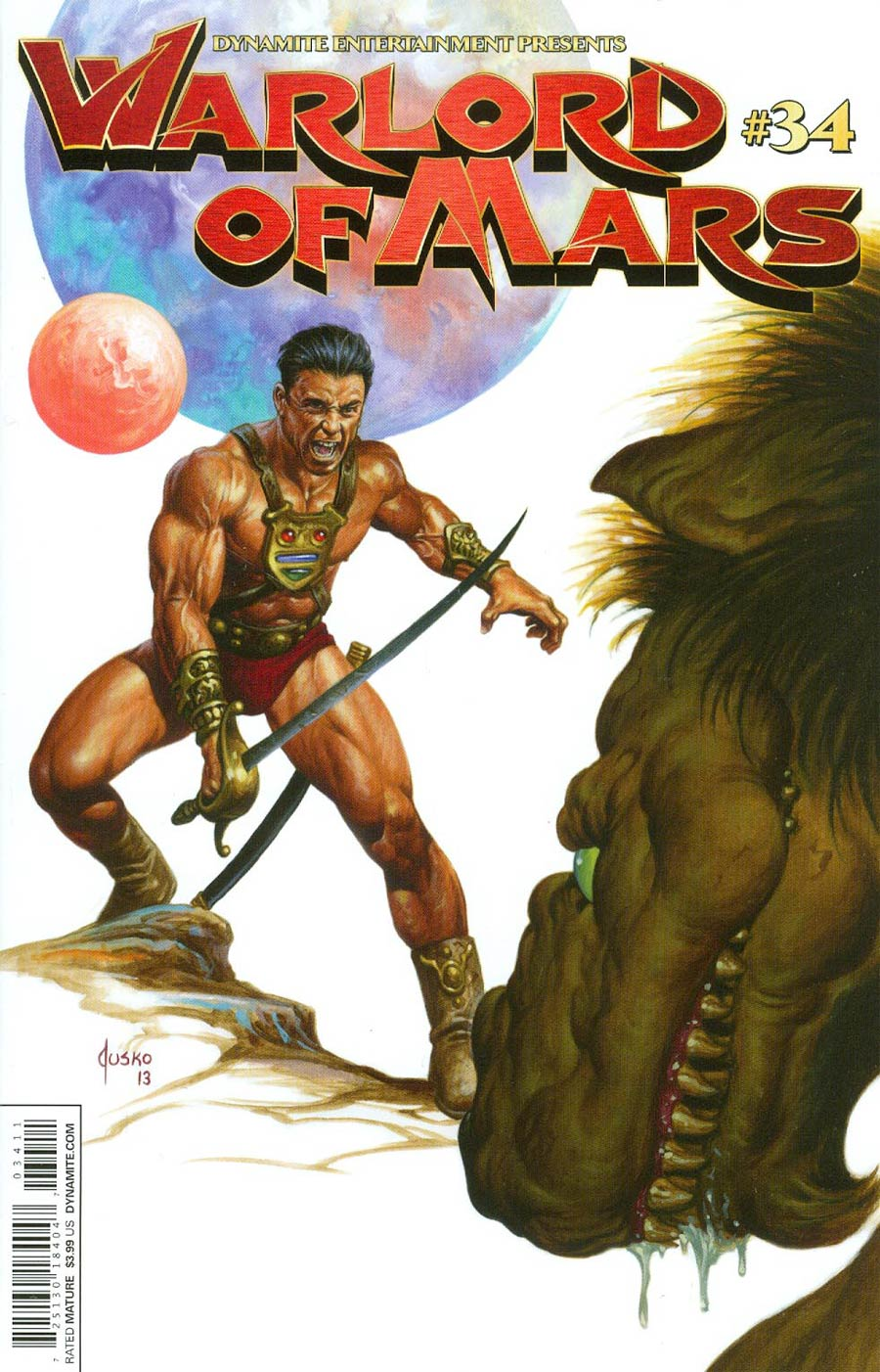Warlord Of Mars #34 Cover A Regular Joe Jusko Cover