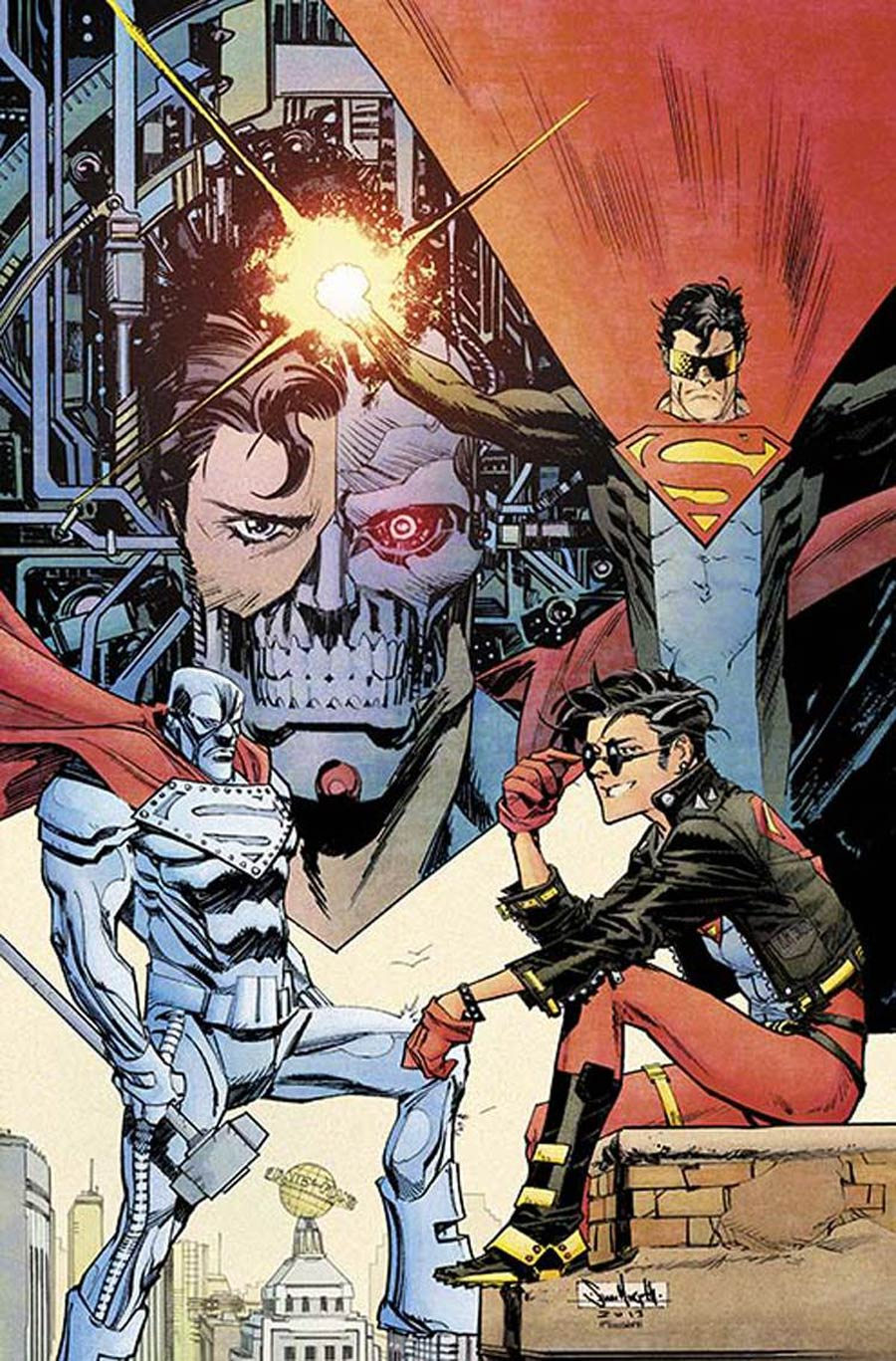 Superman Unchained #6 Cover K Incentive 75th Anniversary Superman Reborn Variant Cover By Sean Murphy