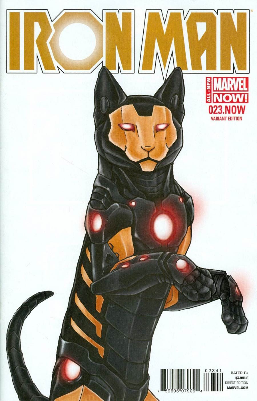 Iron Man Vol 5 #23.NOW Cover B Variant Jenny Parks Animal Cover