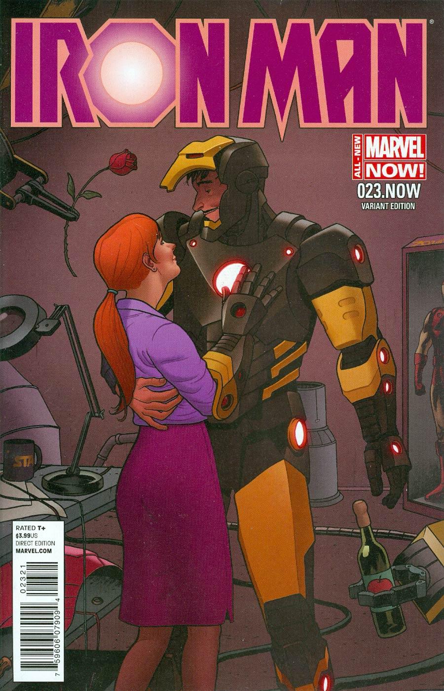 Iron Man Vol 5 #23.NOW Cover D Incentive Joe Quinones Variant Cover