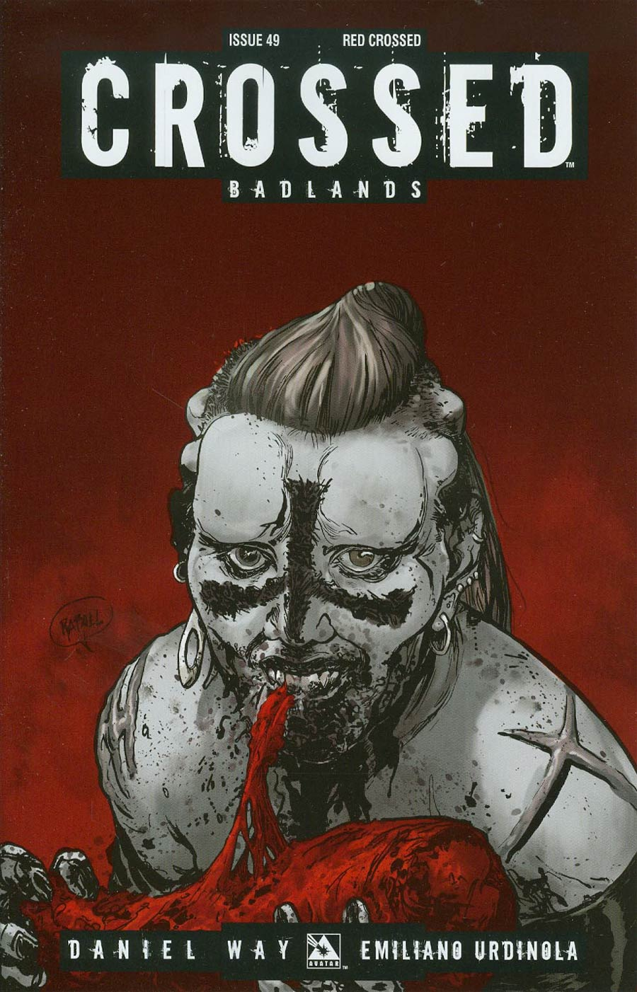 Crossed Badlands #49 Cover D Incentive Red Crossed Edition