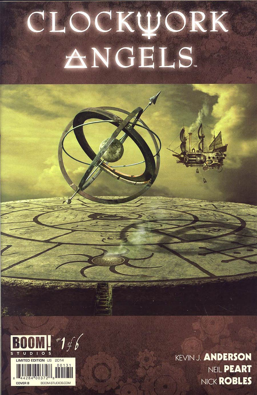 Rush Clockwork Angels #1 Cover B Variant Fan Subscription Cover