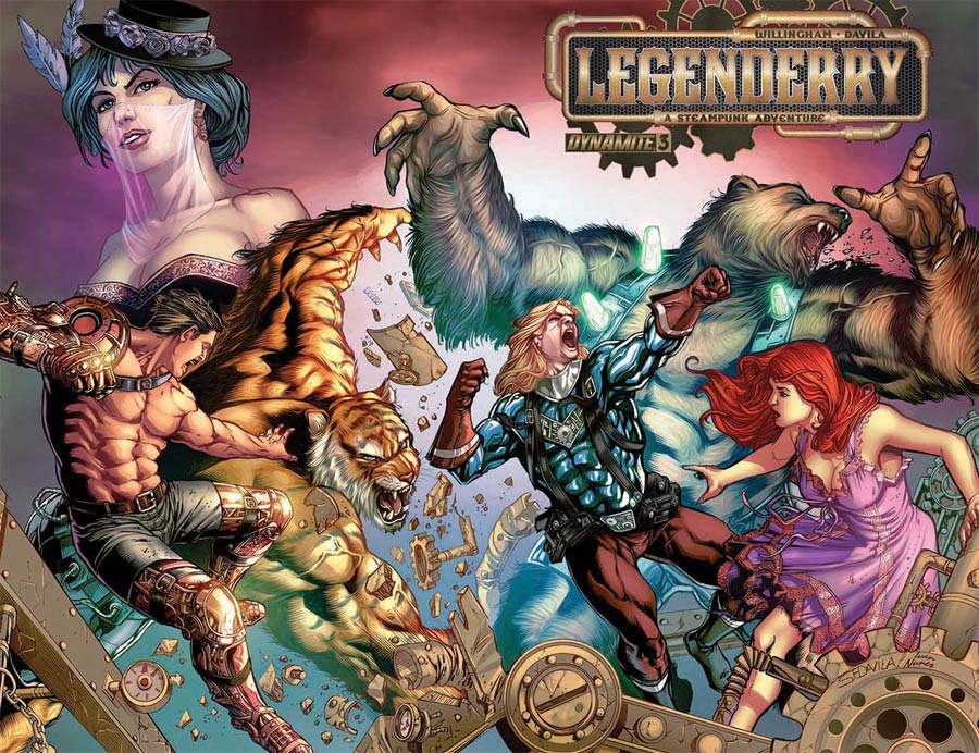 Legenderry A Steampunk Adventure #3 Cover B Variant Sergio Fernandez Davila Color Wraparound Cover