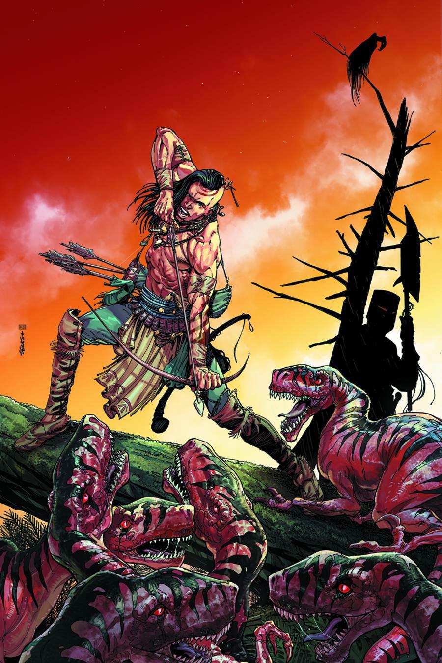 Turok Dinosaur Hunter Vol 2 #1 Cover N Incentive Ken Haeser Cute Hand-Drawn Variant Cover
