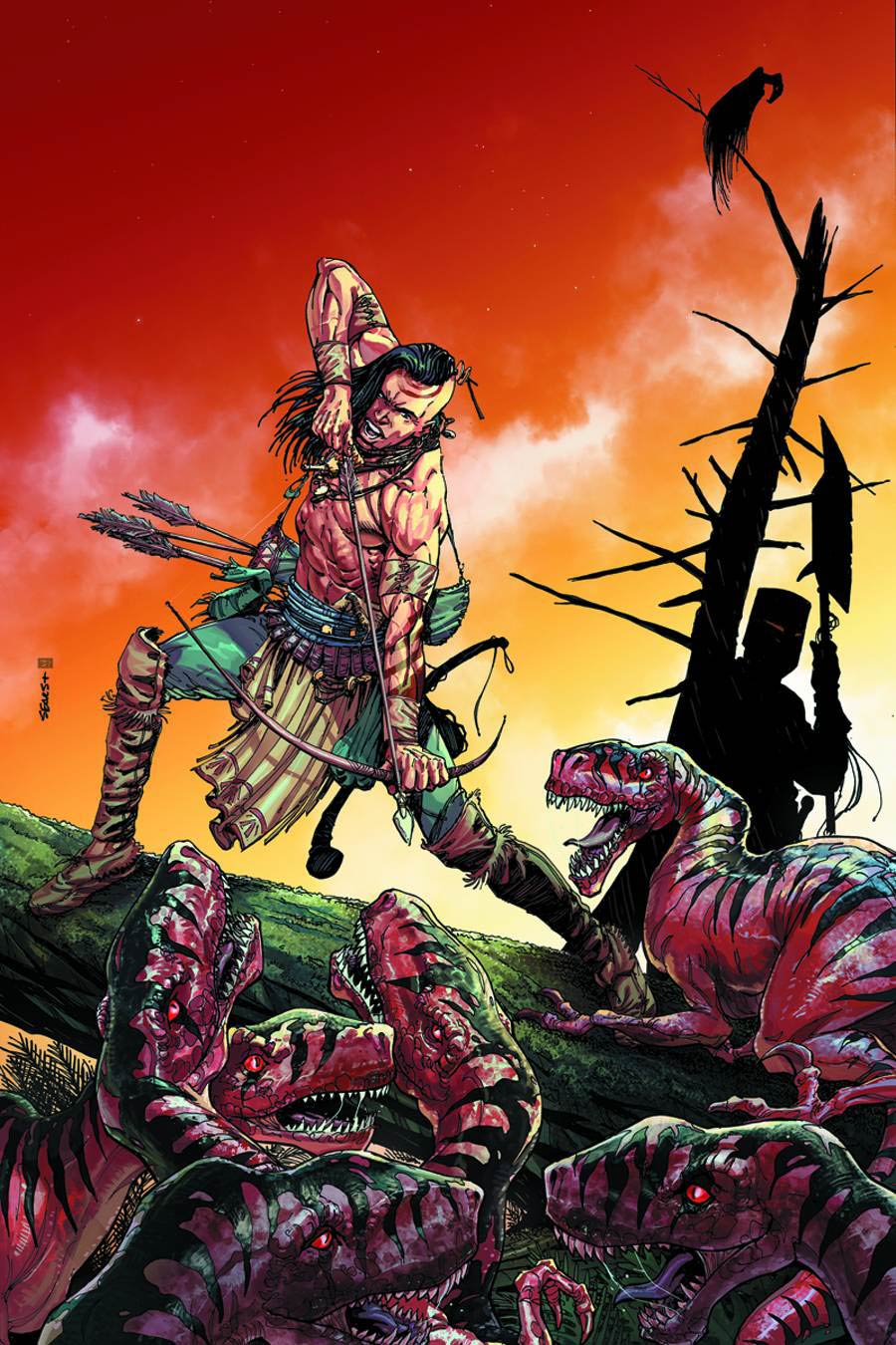 Turok Dinosaur Hunter Vol 2 #1 Cover O Incentive Jae Lee Pure Line Art Cover Signed By Jae Lee