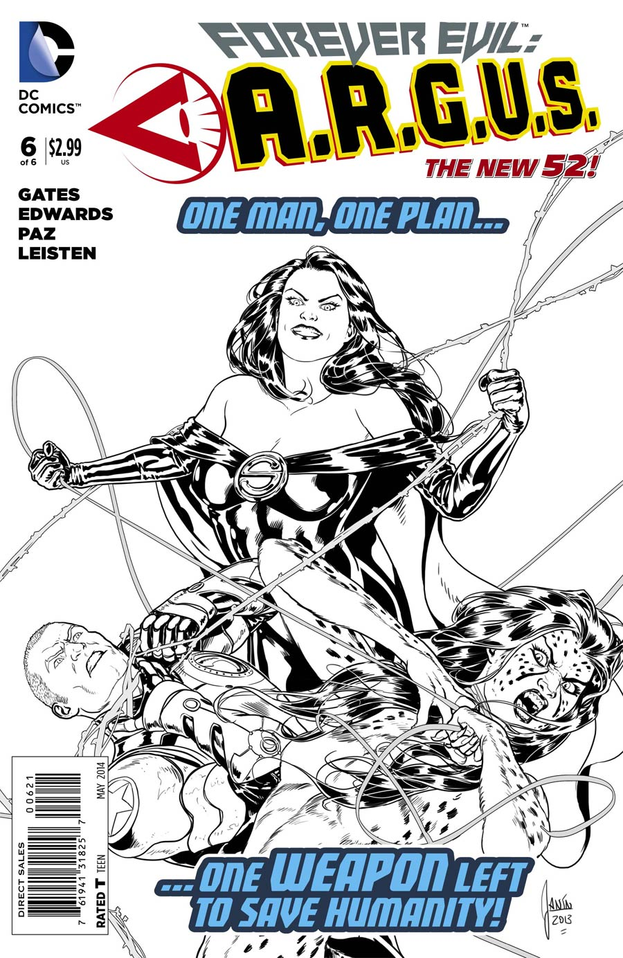 Forever Evil A.R.G.U.S. #6 Cover B Incentive Mikel Janin Sketch Cover