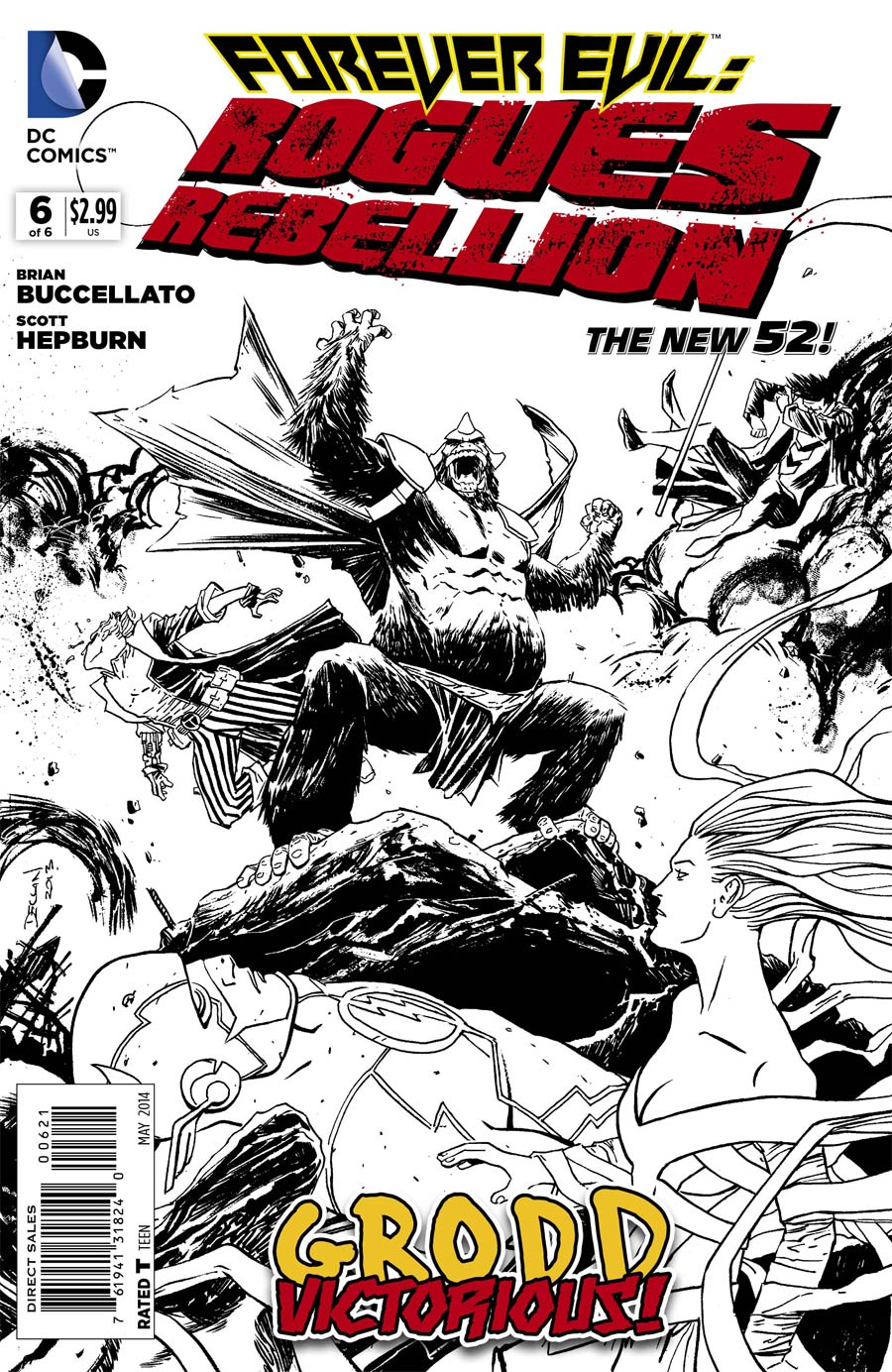 Forever Evil Rogues Rebellion #6 Cover B Incentive Declan Shalvey Sketch Cover