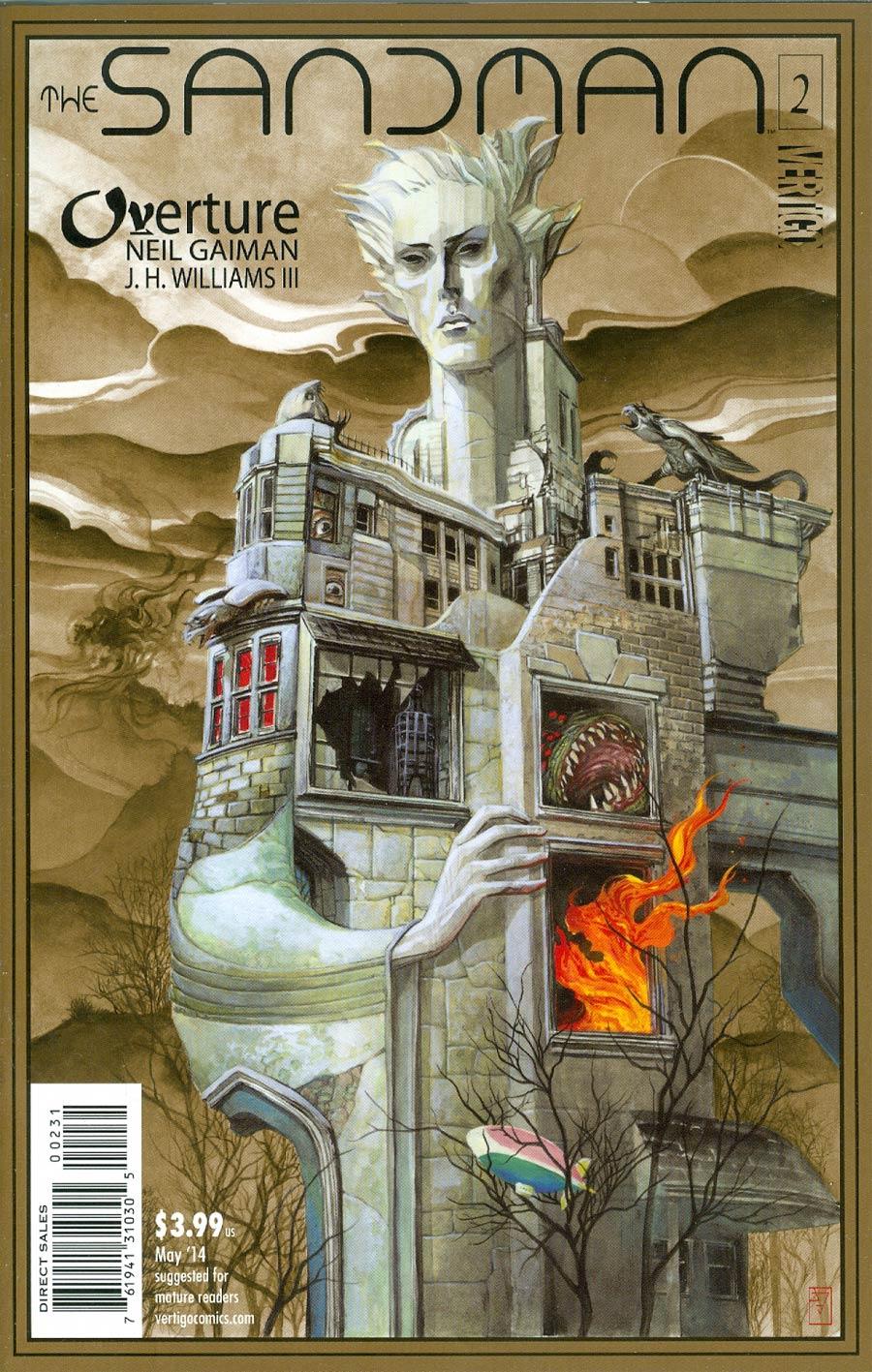 Sandman Overture #2 Cover E Incentive JH Williams III Metallic Bronze Ink Cover