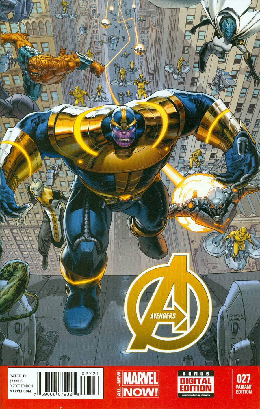 Avengers Vol 5 #27 Cover B Incentive Dustin Weaver Variant Cover