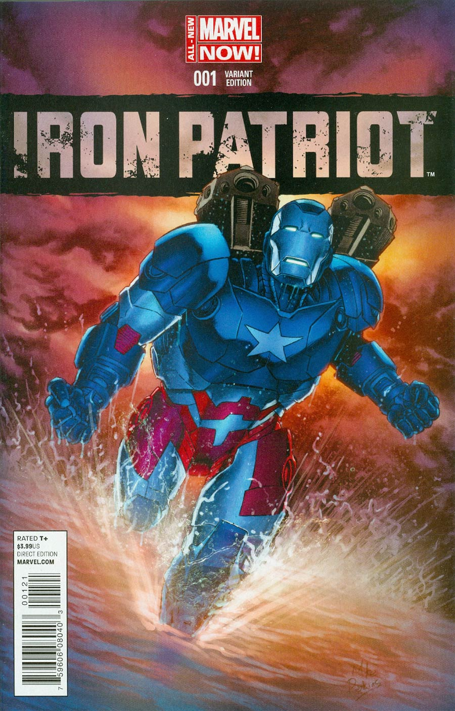 Iron Patriot #1 Cover C Incentive Mike Perkins Variant Cover