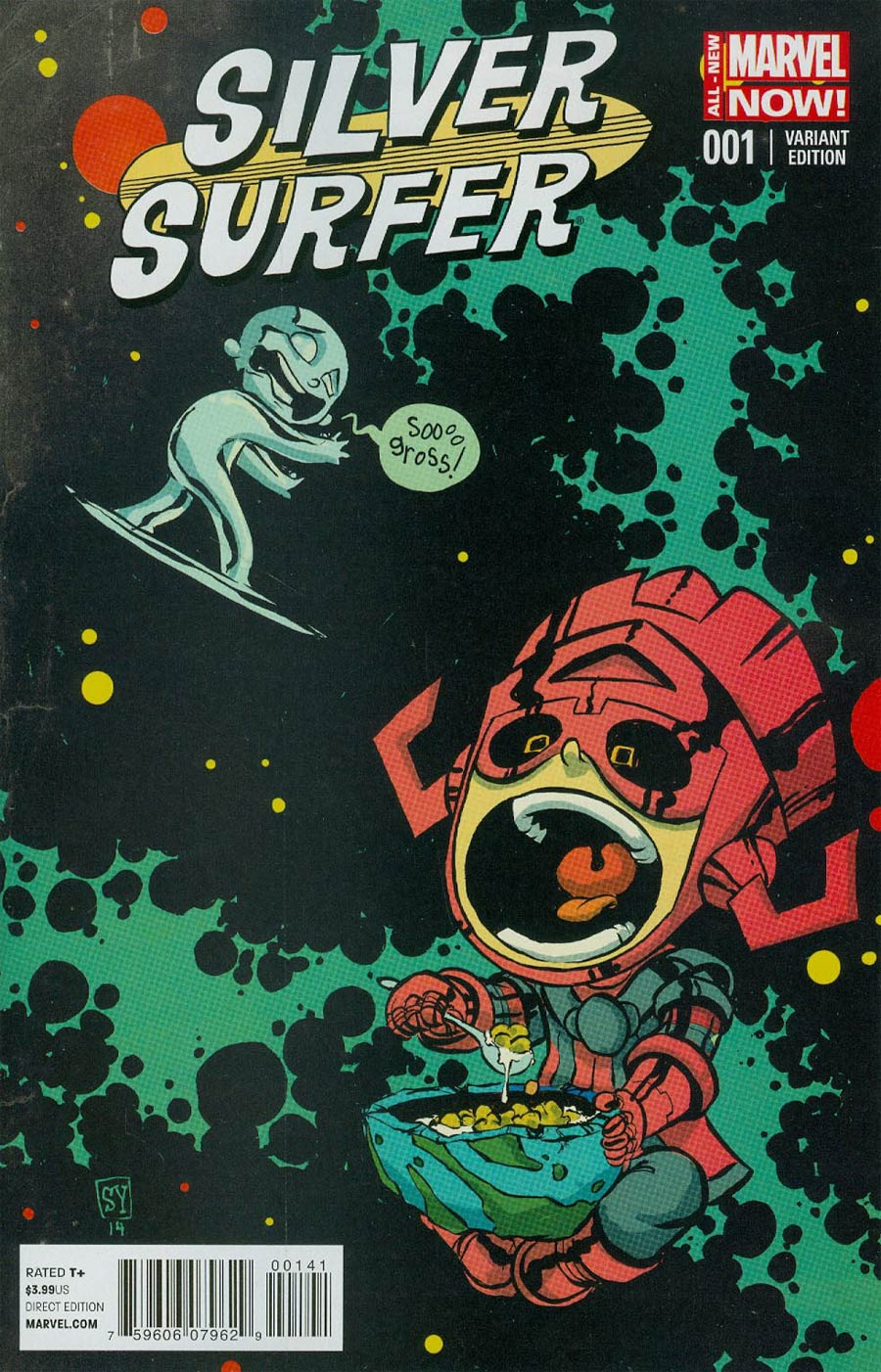 Silver Surfer Vol 6 #1 Cover C Variant Skottie Young Baby Cover
