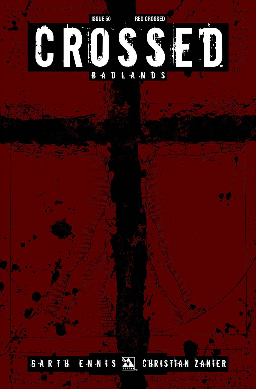 Crossed Badlands #50 Cover H Incentive Red Crossed Edition