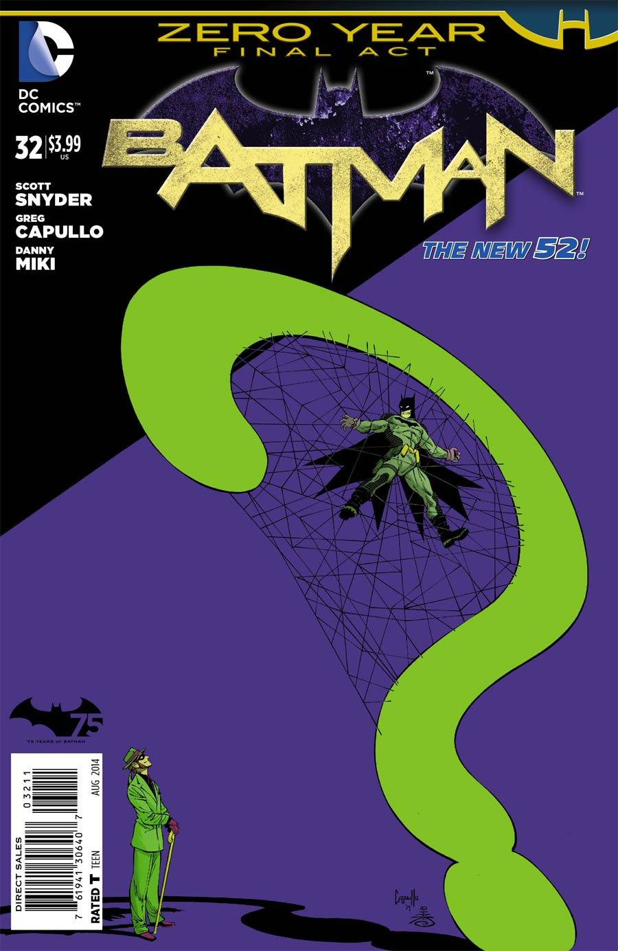 Batman Vol 2 #32 Cover A Regular Greg Capullo Cover (Zero Year Tie-In)